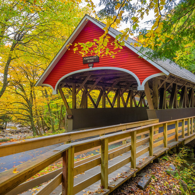 """New England covered bridge"" stock image"