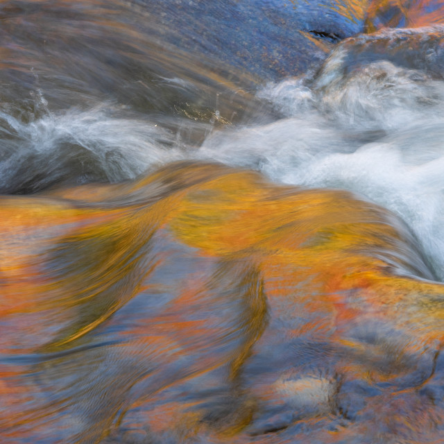 """Small, blurred abstract waterfall"" stock image"