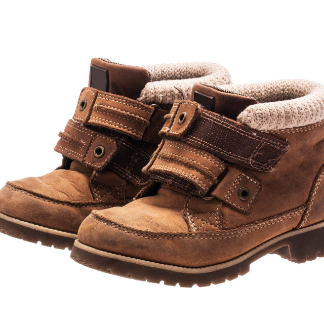 """Children's baby shoes. Orthopedic leather shoes"" stock image"