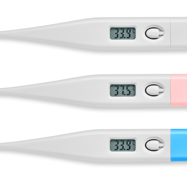 """""""Thermometer digital isolated on white background"""" stock image"""