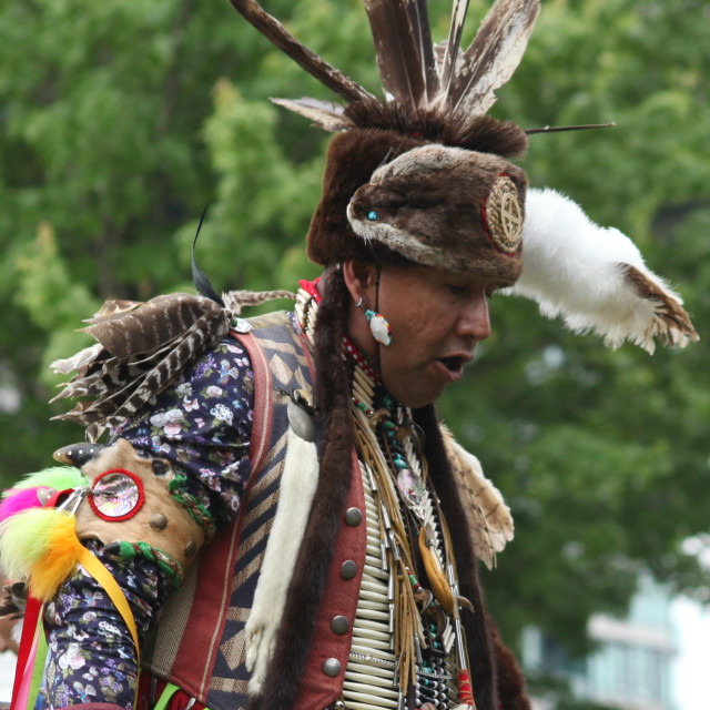 """Indigenous Man"" stock image"