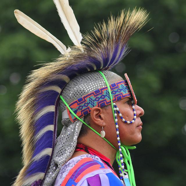 """""""Indigenous Man III"""" stock image"""