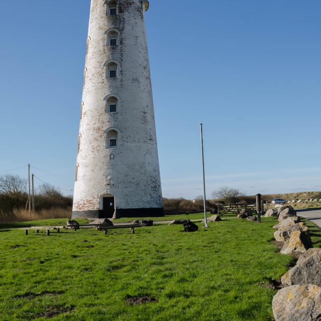"""""""Wirral's Iconic Leasowe Lighthouse"""" stock image"""