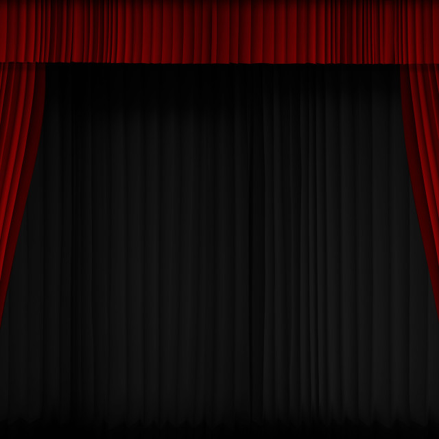 """Red Curtain Show Opening"" stock image"