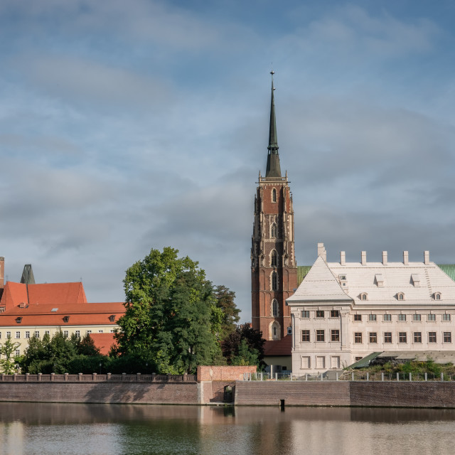 """The Katedra at the Odra in Wroclaw in Poland"" stock image"