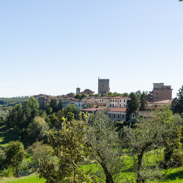 """The beautiful Tuscany city Castellina in Chianti, Italy"" stock image"