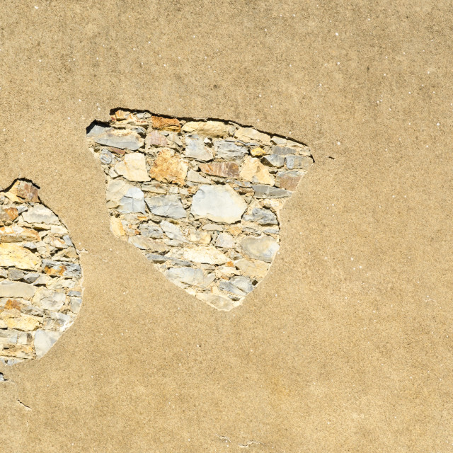 """Cracked wall of a building"" stock image"