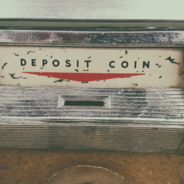 """Deposit Coin"" stock image"