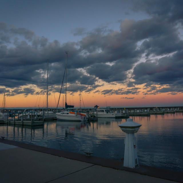 """Marina at Sunset"" stock image"