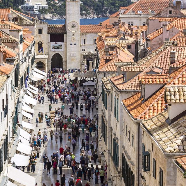 """View to the famous street Stradun, Dubrovnik, Croatia"" stock image"