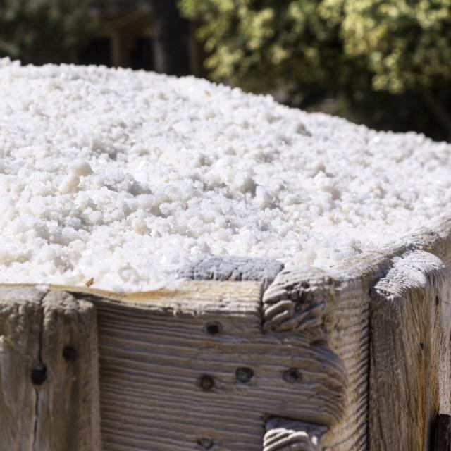 """Old Saline, Ston, Croatia, grained salt"" stock image"
