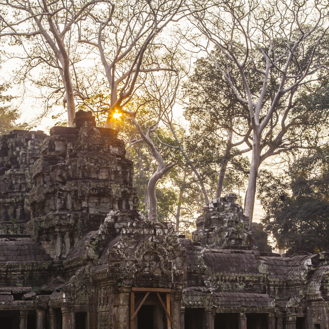 """Banteay Kdei Sunset"" stock image"