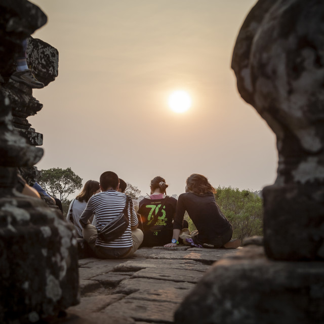 """Sunset at Pre Rup"" stock image"