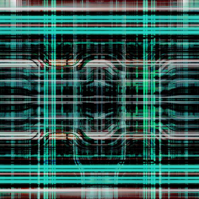 """Green light trails grid"" stock image"