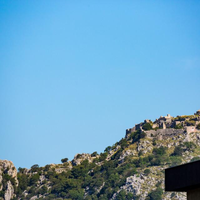 """Ruins of Haj-Nehaj fortress, Sutomore, Montenegro"" stock image"