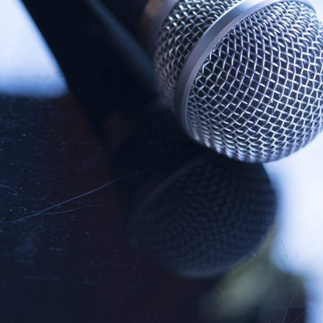 """Singers concert stage microphone"" stock image"