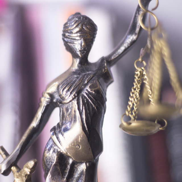"""Legal law firm statue"" stock image"