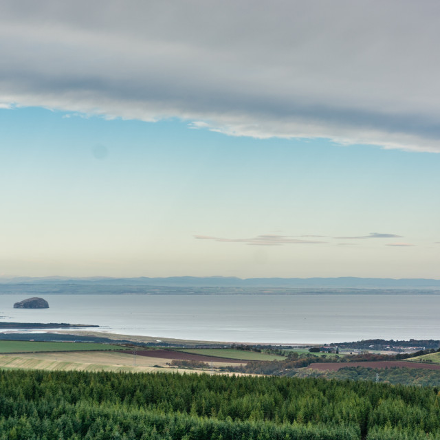 """The Bass Rock and Firth of Forth"" stock image"