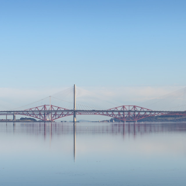 """Bridges over the Firth of Forth"" stock image"