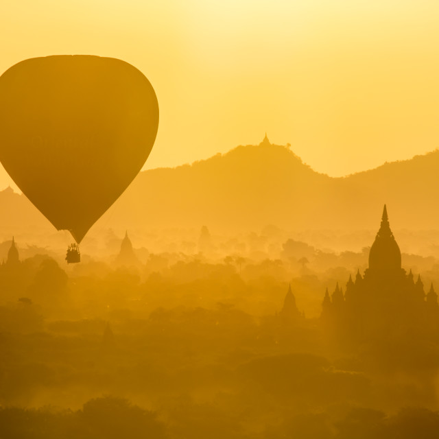 """Sunrise Balloon"" stock image"