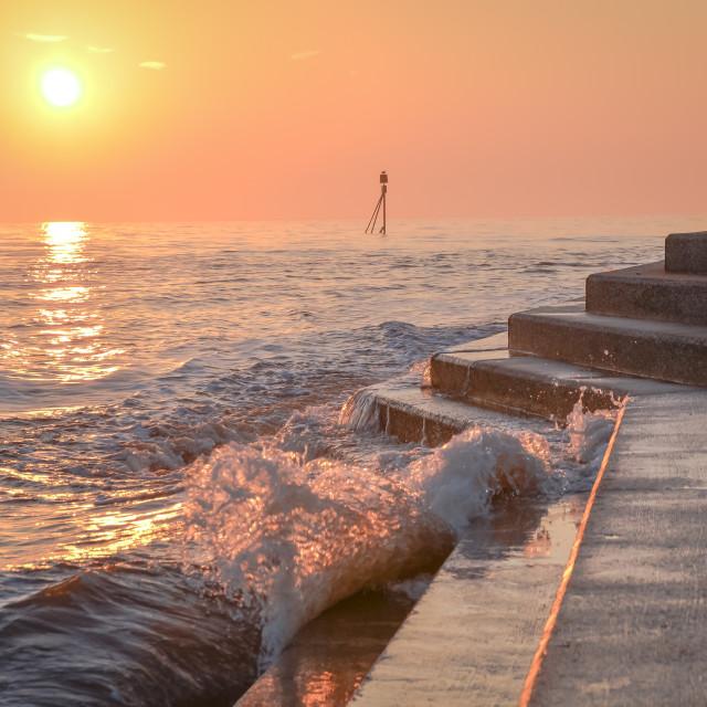 """High Tide Sunrise"" stock image"