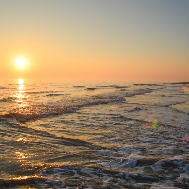 """Sea sunrise"" stock image"