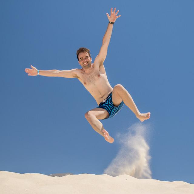 """Man jumping"" stock image"