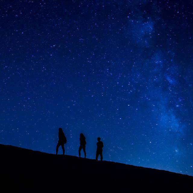 """Treking at night"" stock image"