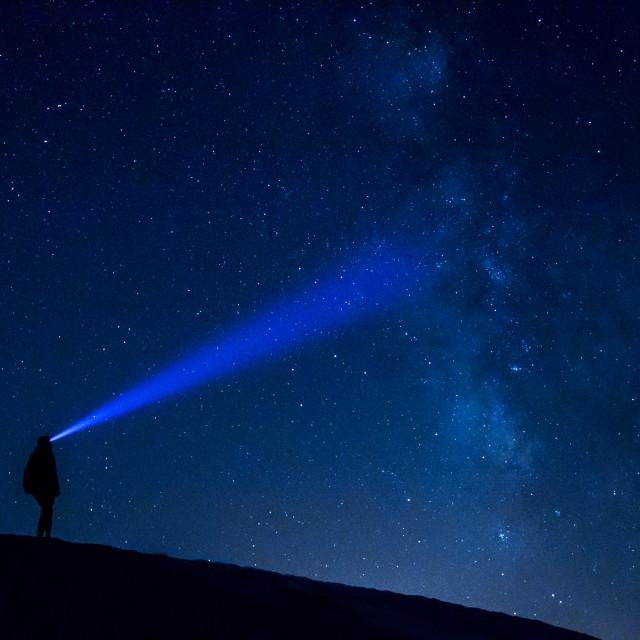 """Milky way landscape"" stock image"
