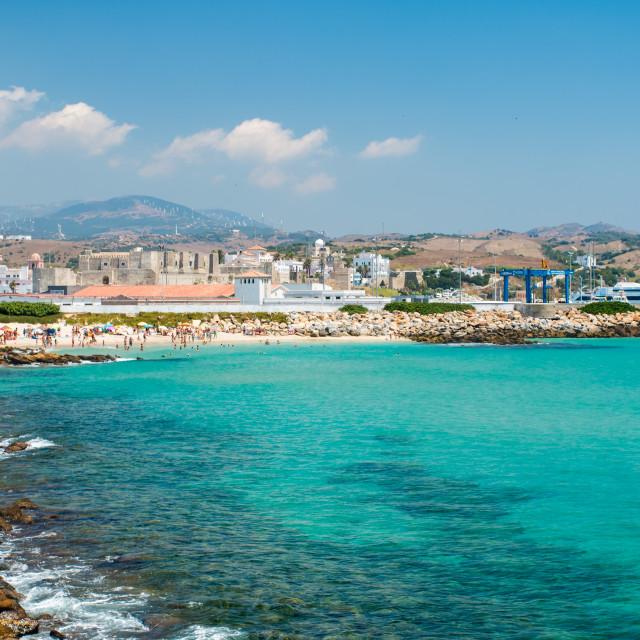 """Tarifa's beach"" stock image"