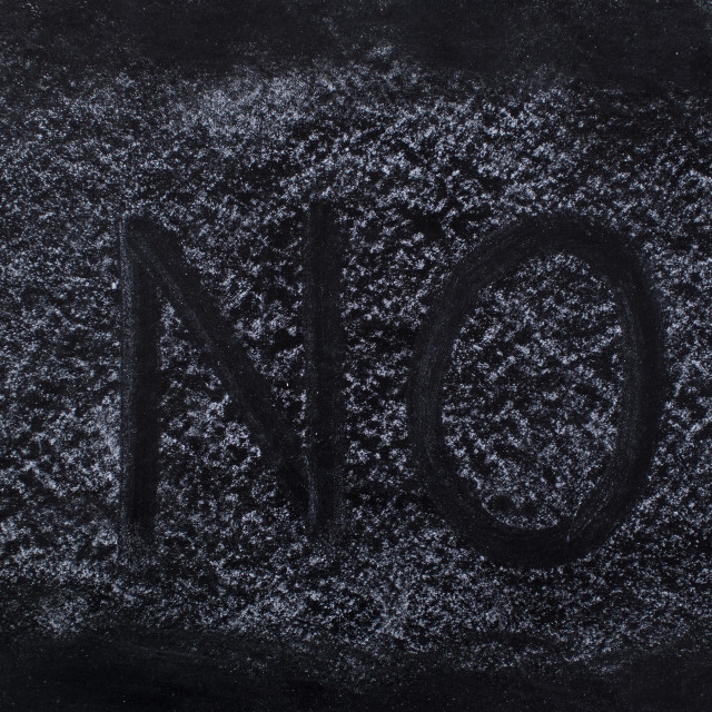 """""""NO text on Chalkboard"""" stock image"""