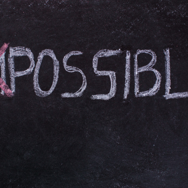 """""""Impossible is nothing"""" stock image"""