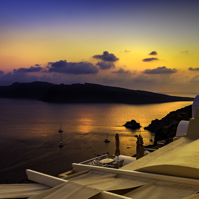 """Oia Rooftop"" stock image"