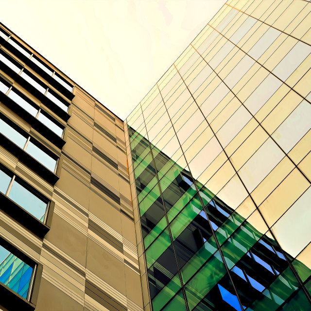 """""""Perspective Office Tower in Singapore"""" stock image"""