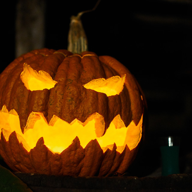"""""""Jack-O-Lantern pumpkin"""" stock image"""