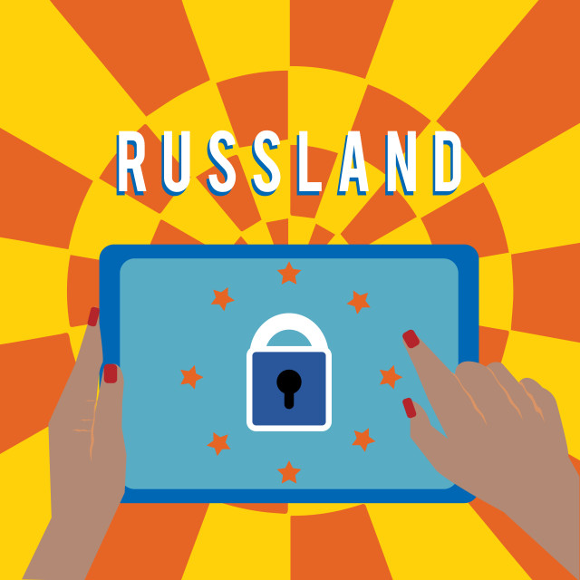 """""""Handwriting text Russland. Concept meaning former empire of eastern Europe..."""" stock image"""