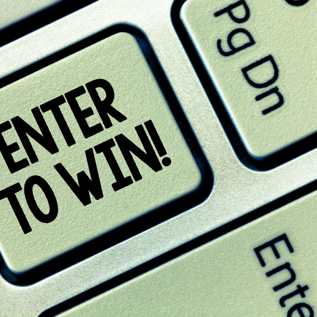 """""""Conceptual hand writing showing Enter To Win. Business photo showcasing..."""" stock image"""