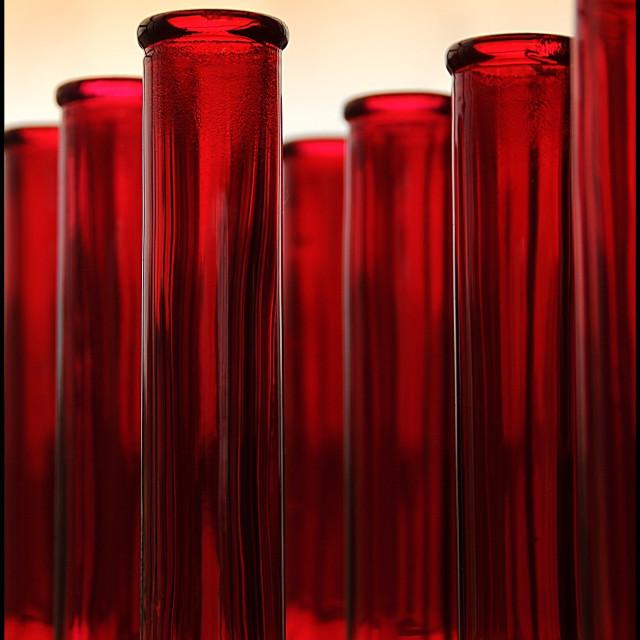 """Red bottles"" stock image"