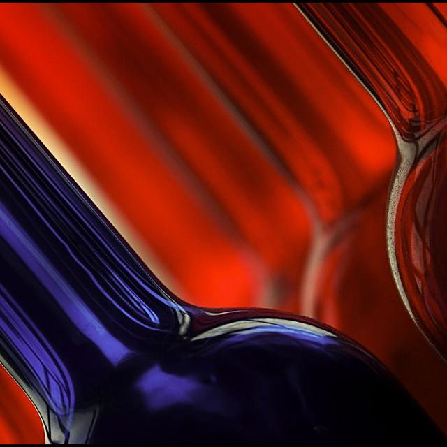 """Red-blue bottles"" stock image"