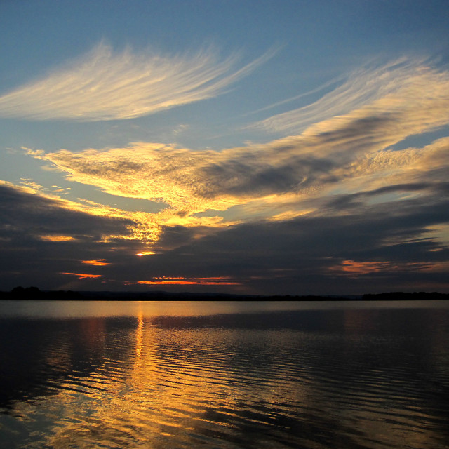 """Evening at Big Lakes of Moravia II."" stock image"
