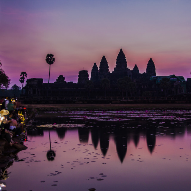 """Morning Angkor"" stock image"