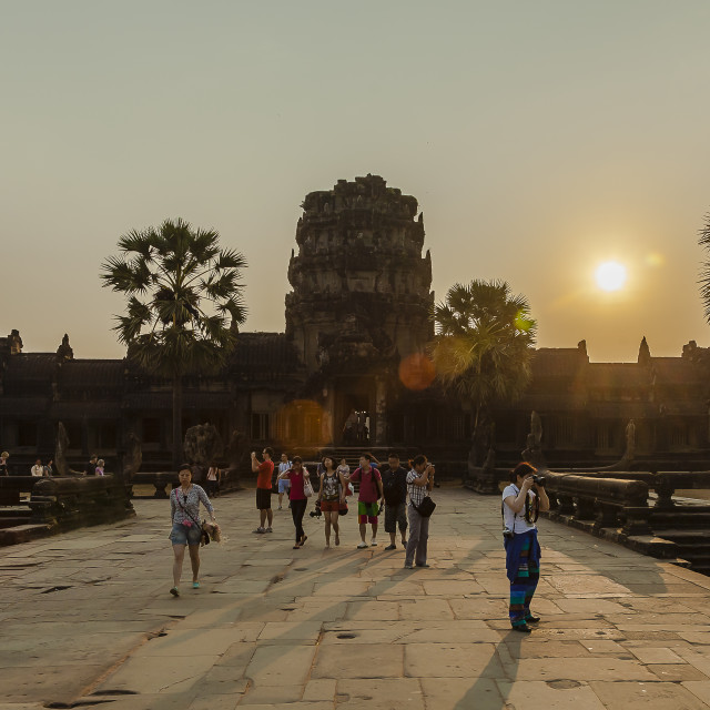 """Enter Angkor"" stock image"