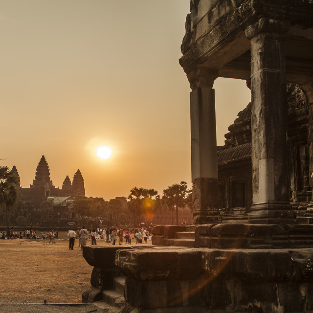 """Holy Angkor"" stock image"