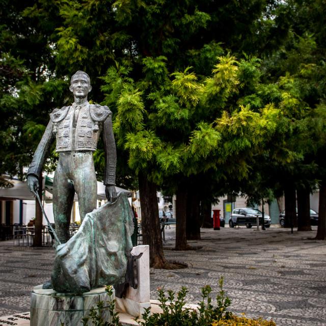 """Statue of bullfighter Manuel Dos Santos"" stock image"