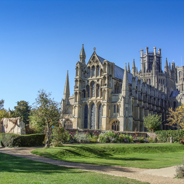 """Ely Cathedral, Cambridgeshire"" stock image"