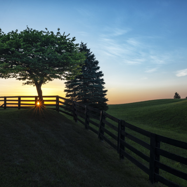 """Sunrise in Caledon"" stock image"