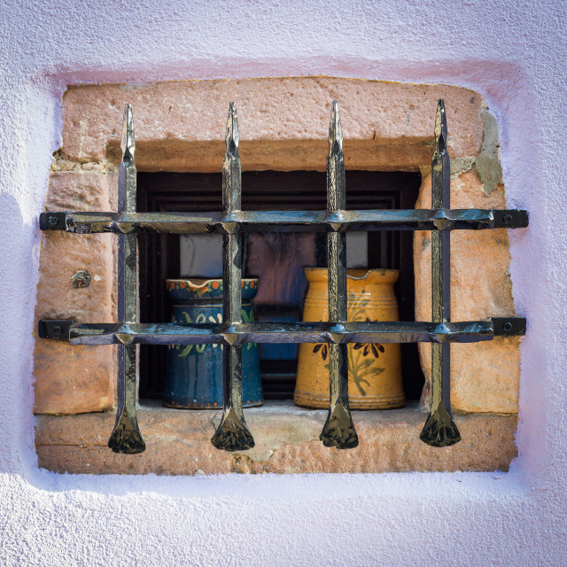 """Window, Alsace, France"" stock image"
