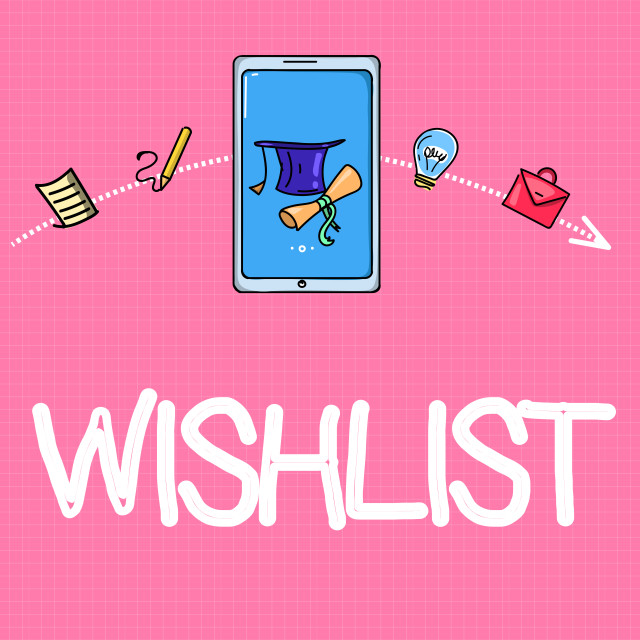 """Conceptual hand writing showing Wishlist. Business photo text List of desired..."" stock image"