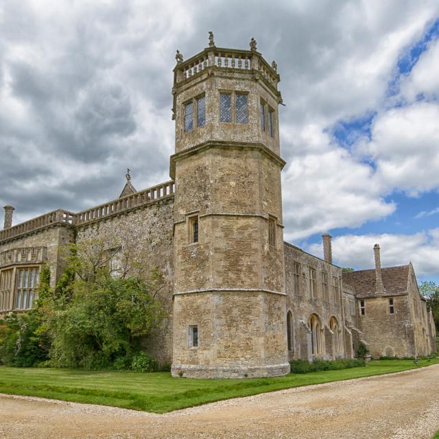 """Lacock Abbey, Lacock, Wiltshire"" stock image"