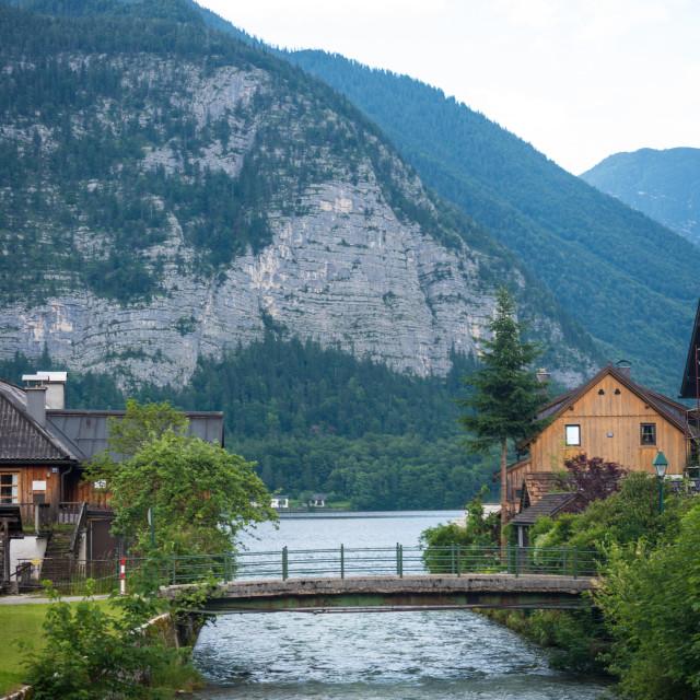"""""""Hallstatt Landscape #377"""" stock image"""